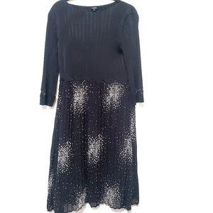 Pleated midi dress, size Medium
